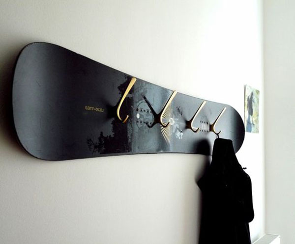 deco recycle ton snowboard vague et vent le blog. Black Bedroom Furniture Sets. Home Design Ideas